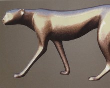 Bronze Sculpture titled Cheetah Stalking by Loet Vanderveen