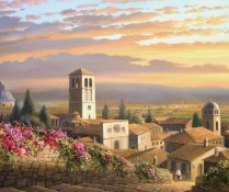 Fine art edition titled Color of Assisi by Charles Pabst