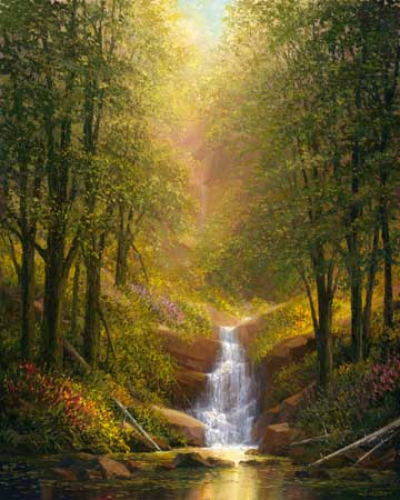 Fine art edition titled Distant Falls by Charles Pabst