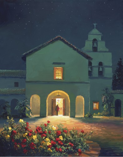 Fine art edition titled Evening Vespers by Charles Pabst