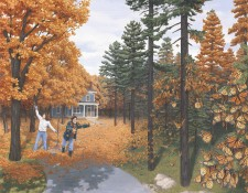 Fine art editions titled Fall Colour Flies by Rob Gonsalves
