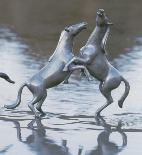 Vanderveen Bronze - Horses Fighting Stallions