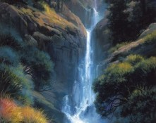 Fine art edition titled Kaibab Canyon Falls by Charles Pabst