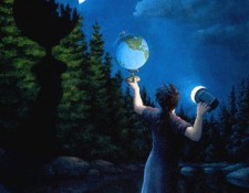 Rob Gonsalves Prints - New Moon Eclipsed