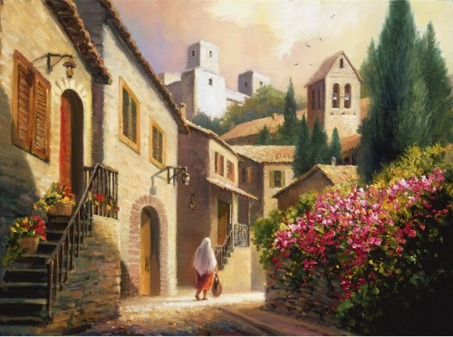 Fine art edition titled Streets of Assisi by Charles Pabst