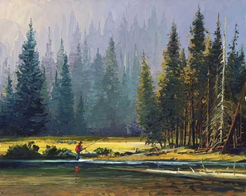 Fine art edition titled Summer Solitude by Charles Pabst