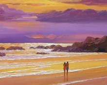 Fine art edition titled Sunset Stroll by Charles Pabst