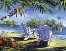 Fine art edition on canvas titled Neighbor Island by Steve Barton