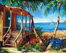 fine art edition on canvas titled smugglers cove by steve barton