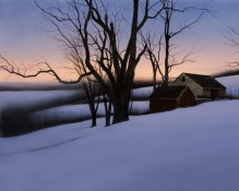 Alexander Volkov Photorealism - Winter Homestead