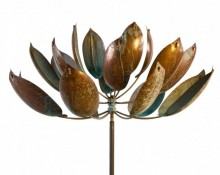Lyman Whitaker Kinetic Wind Sculpture - Lotus