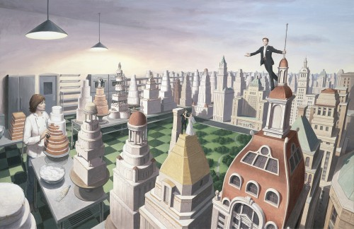 Rob Gonsalves Prints - Sweet City