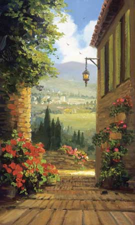 garden steps fine art edition on canvas titled garden steps by charles pabst