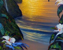 fine art edition on canvas titled dreams of golden trails by barton/walfrido
