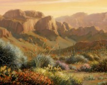 fine art edition on canvas titled desert morning by charles pabst
