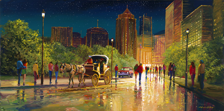 glistening lights Original Oil Painting by Charles Pabst