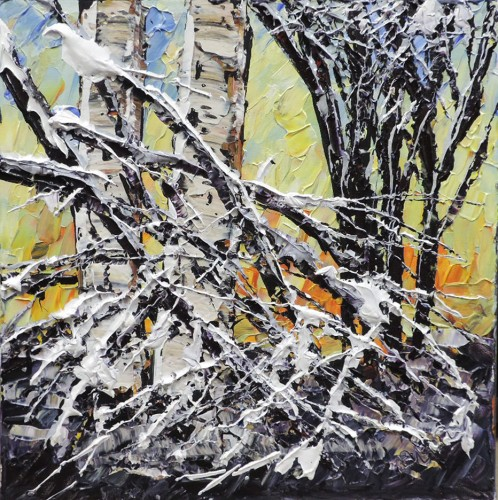 Original Acryli Parinting titled Untitled Winter Birch - 165932 by Maya Eventov