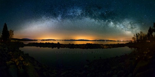 Fine art photography titled Milky Way Over Lake Tahoe by Jon Paul