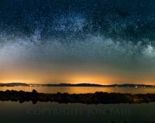 Fine art photography titled Milky Way Over Lake Tahoe by Jon Paul