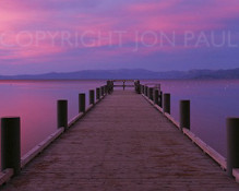 Jon Paul Photography - Valhalla Pier Sunset Panorama