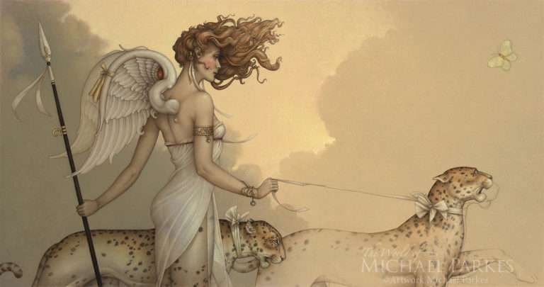 Michael Parkes-Three Leopards
