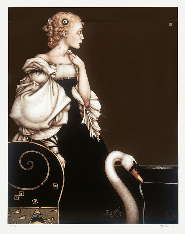 Michael Parkes Art - Beatrice Alone Stone Lithograph