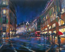 Michael Flohr Print - London Rain