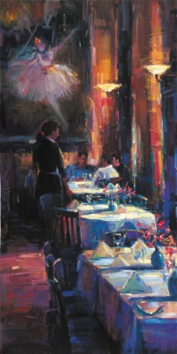 Michael Flohr Print - Lunch With Degas