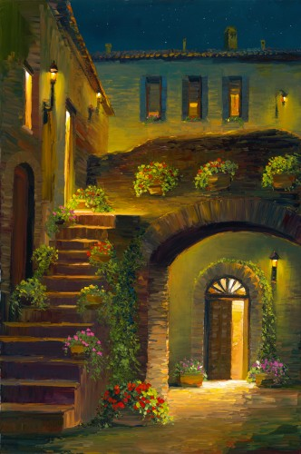 Fine art edition titled Assisi Glow by Charles Pabst