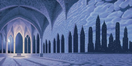 Rob Gonsalves Prints - Cathedral of Commerce