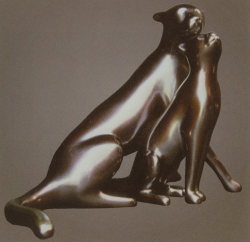 Vanderveen Bronze - Cheetah and Cub