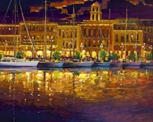 Fine art edition on canvas titled Enchanted Night by Charles Pabst