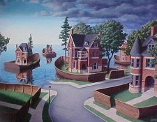 Rob Gonsalves Prints - Flood Fences