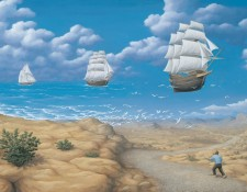 Rob Gonsalves Prints - In Search of Sea