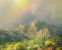 Fine art edition titled Kofa Mountains by Charles Pabst