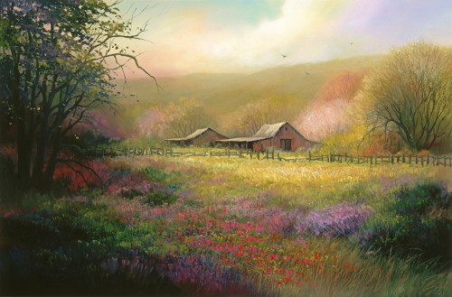 Fine art edition titled Santa Cruz Meadow by Charles Pabst