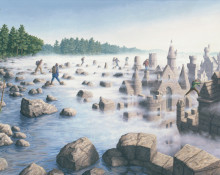 Rob Gonsalves Prints - Stepping Stones
