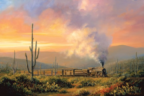 Fine art edition titled Sunset Limited by Charles Pabst