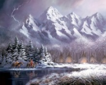 Fine art edition titled Teton Encampment by Charles Pabst