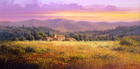 Fine art edition titled The Arno Valley by Charles Pabst