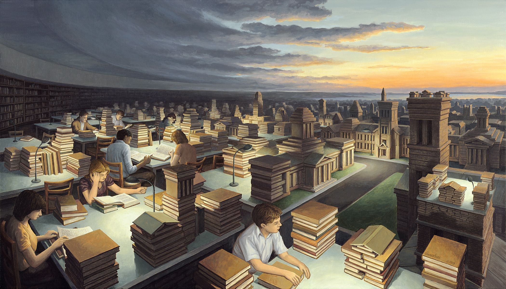Towers Of Knowledge 187 Rob Gonsalves 187 Marcus Ashley Gallery