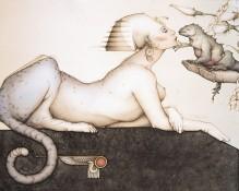 Michael Parkes Art - the Sphinx Stone Lithograph