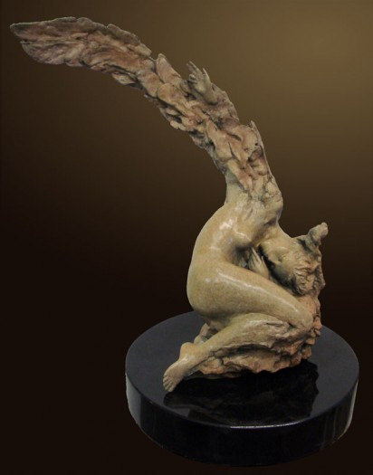 Bronze Sculpture titled The Pearl by Ira Reines