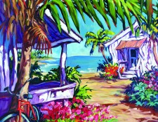 Fine art edition titled Beach Bungalow by Steve Barton