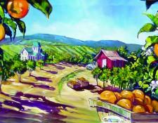 Fine art edition on canvas titled MeKenna's Orchard by Steve Barton