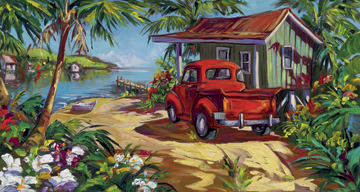 Fine art edition on canvas titled Tropic Dreams by Steve Barton