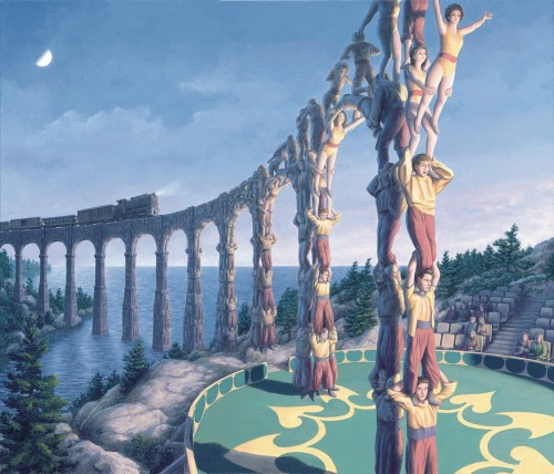 Rob Gonsalves Prints - Acrobatic Engineering