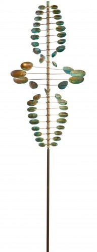Lyman Whitaker Kinetic Wind Sculpture - Twister Oval