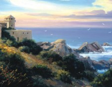 Fine Art Edition titled Castello Mediterranean by Charles Pabst