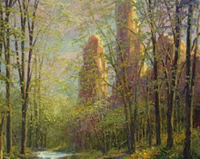 fine art edition on canvas titled chiracahua creek by charles pabst